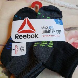 Nwt Reebok 6 pairs socks boys 4-8 new